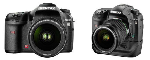 Doctored photo showing what the Pentax K20D will probably look like.