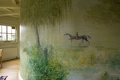 Mural by Jonathon Early, in the Garden Room at the Geffrye Museum, Shoreditch, London