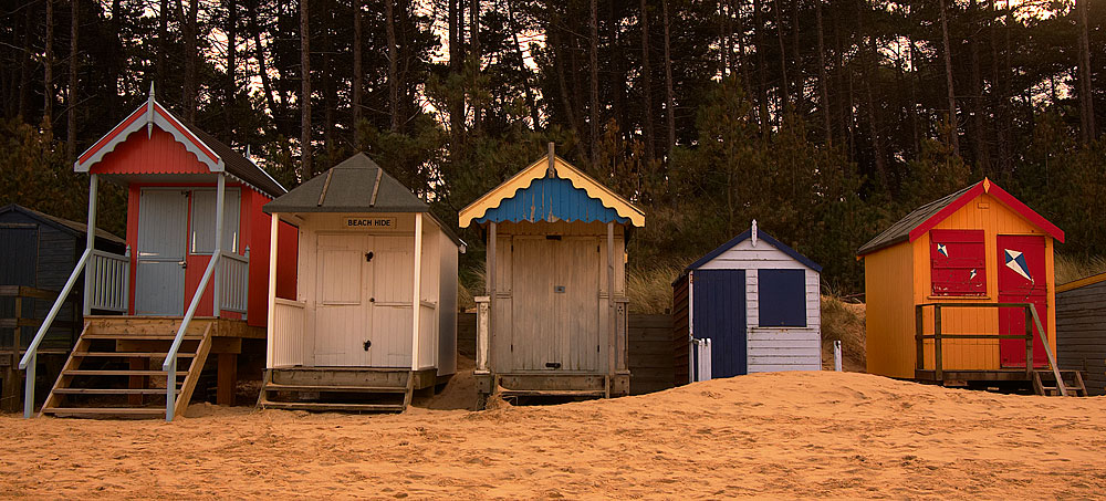 Beach Huts at Wells-next-the-Sea, Norfolk